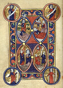 The Tree of Jesse; The Annunciation; The Nativity; The Annunciation to the Shepherds