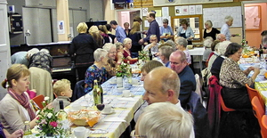 At the 2009 Harvest Supper