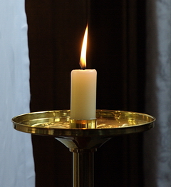 We use candles to remind us that Christ is the Light of the World