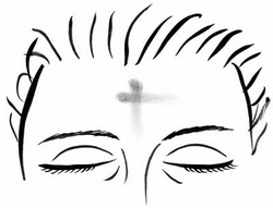 The mark of the cross in ashes