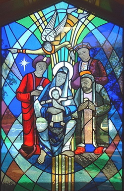 The Epiphany window at the Drumbo and Carryduff Church, Belfast