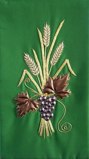 Lectern embroidery by Jean Hill (from Gaddesby, Leicestershire)