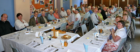 Many of the joint Church family gathered for an agape meal