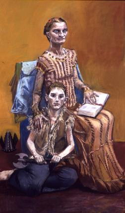 Paula Rego's painting of St Margaret in the Chapel of the Nine Altars at Durham Cathedral