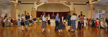 Filling the Glen Pavilion at a ceilidh