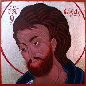 An icon of Saint Luke